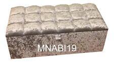 40 INCH CRUSHED VELVET 10 DIAMOND OTTOMAN STORAGE BEDDING TOY BOX BRAND NEW SALE