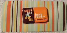 Lucy Activewear Burn Your Bad Sport Bra Lapel Pin Button Boob Brigade 2000 Pin