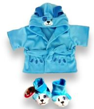 More details for teddy bear clothes fits build a bear teddies puppy dressing gown robe + slippers