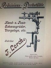 Lorch Vintage Watchmakers Lathe & Accessories Catalogue Copy