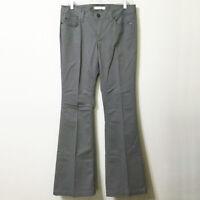 LOFT Modern Flare Chinos Pants 6 Women's Green Grey Mid Weight Cotton