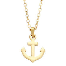 "Anchor Charm Pendant Fashionable Necklace - 16"" Chain - 2 Colors"
