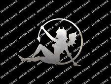 DEVIL FAIRY -- Metal Plasma Cut Sexy Sinner Lady Woman Garage Art Sign Rat Rod