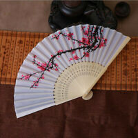 Summer Folding Fan Cooling Bamboo Cloth Hand Held Fan Chinese Wedding Party