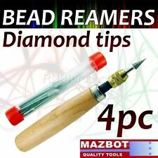 Mazbot® 4pc Pro Diamond Reamers Set Wood Handle Bead Pearl Jewelry Beading Dbr4