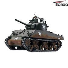 RC Panzer US Sherman M4A3 1/16 Torro Profi Edition IR-Version Holzkiste 2.4GHz