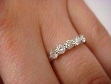 Small Wedding Band, 3 Mm Wide, Size 5 14K White Gold 0.50 Carat T.W. 5 Diamonds