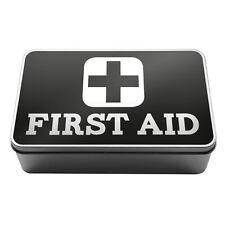 Suministros médicos de primeros auxilios Negro Pastillas De Metal Caja de almacenamiento yesos A007
