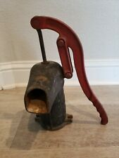 Antique Primitive Sears 261-69 Cast Iron Well Pump Red Handle Garden Fountain