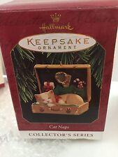 Hallmark Series Ornament Cat Naps #4 1997  Kitten Sleeps in Suitcase
