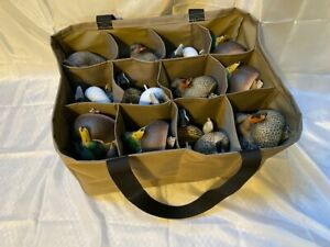 12 Pouch Life Size Series Custom Decoy Bag, 3 ROWS, Wood Duck, Puddle Ducks