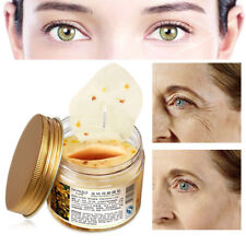 80X Women Gold Osmanthus Eye Mask Collagen Moisturizing Whitening Dark Circle
