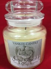 Yankee Candle Snow Angels Candle 14.5 Oz Retired Rare Burned