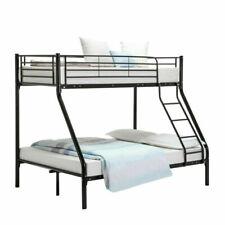 Triple Black Bunk Bed Children Adult Children Kids 3 Person Sleeper Bedroom