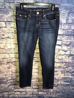 American Eagle Womens Straight Stretch Dark Wash Jeans Size 4🔥Free Shipping