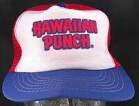 Vintage Hawaiian Punch Red White Blue Snapback Trucker Mesh Back Hat Made In USA