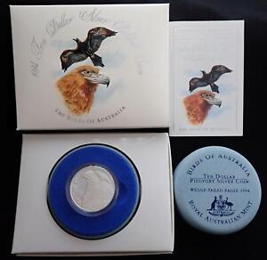 1994 BIRDS of AUSTRALIA EAGLE $10 SILVER PIEDFORT COIN MELBOURNE COIN FAIR