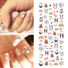 Nail Art Water Transfer Decals Manicure Stickers Cute Rabbit Pattern Tips
