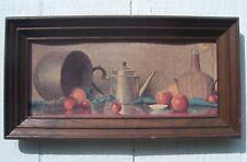 Vintage ROBERT DOUGLAS HUNTER Still Life Art Print framed Apples kitchenware