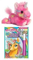 "Aurora Unicorn 7"" Stuffed Animal with Magic Ink & Sticker Puzzles Activity Book"
