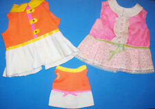 3 Vintage Mattel Doll Outfits Randi Reader Talking Baby First Step & Small Walk