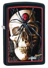 Zippo 28627 mazzi spider and skullblack matte Lighter