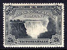 RHODESIA 1905 VICTORIA FALLS 2/6 BLACK HINGED MINT, SG 98