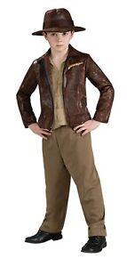 Indiana Jones Child Costume Set Whip Machete Bag Medium 8-10 Halloween