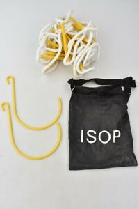 ISOP Fire Escape Rope Ladder 4.1M 2 Storey Houses With Window Hooks & Bag