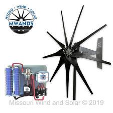 Missouri Freedom 12 Volt 1600 Watt 7 Blade Wind Turbine Generator Kit - Black