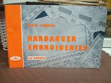 1962 book hardanger embroideries dmc library 1st series