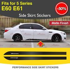M Performance Leistung Seitenschweller Aufkleber Vinyl für BMW E60 E61 5er MATT