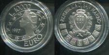 SAN MARINO 1997 - 10000 Lire in Silber, PP - LIBERTAS Millenium