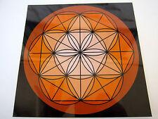 ORANGE SACRAL Chakra Spirit Board 8inch Cardstock Crystal Healing Grids Creative