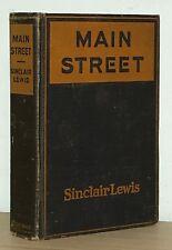 Sinclair Lewis - Main Street - 1st 1st 1st State w/ Both Errors - 1920 - NR