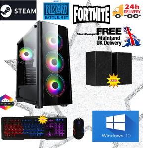 AMD 3000G Dual Core Vega 3 Windows 10  32GB 1TB USB3 Gaming PC Computer RGB FANS