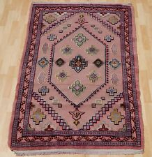 TAPESTRY TURKISH CARPET RUG PURPLE HANDKNOTTED RECTANGLE WOOL 30+ AREA RUG 3X5ft