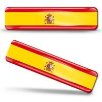 Autocollants 3D  Drapeau Espagne Espagnol Spain National Flag Spanish Stickers