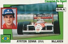 007 AYRTON SENNA BRAZIL McLAREN STICKER SUPERSPORT 1988 PANINI RARE & NEW V2