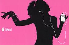 iPod Werbekarte in PINK  NEU  Merchandising/Werbung  Original Apple Hochglanz