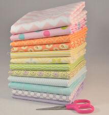 Designer Pastel Fat Quarter Bundle, 12 pieces, 3 yards total, 100% cotton fabric