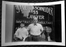 1963 Lawyer on Suffolk St New York City With Grandson Original Photo