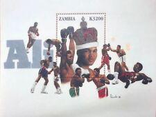 Zambia - Muhammad Ali - Souvenir Sheet of 1 Stamp MNH