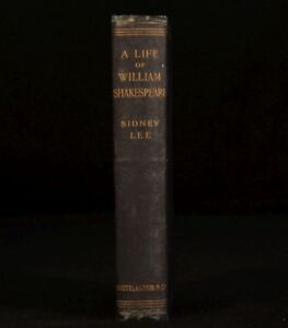 1899 A Life Of William Shakespeare Sidney Lee Portraits Facsimilies Theatre
