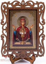 Christian Неупиваемая Чаша Inexhaustible Chalice Russian Orthodox Icon Wood