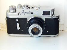 Early Zorki-4 USSR Rangefinder Film Camera copy Leica w/s lens INDUSTAR-22 AS IS