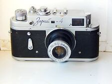 Early Zorki-4 USSR Rangefinder Film Camera copy Leica w/s lens INDUSTAR-22 AS IS