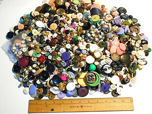 4.5 pound lot of vintage buttons many styles colors and sets for crafts, apparel