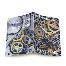 3D Mechanical Clock Identity Card Passport Holder Protect Cover Travel Case Bag