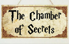 The Chamber of Secrets Plaque Sign Gift - Harry Potter Room House Present
